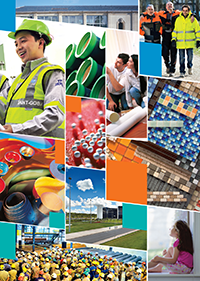 Collage of Saint-Gobain photos