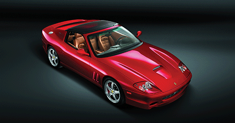 Ferrari SuperAmerica with electromic glass roof