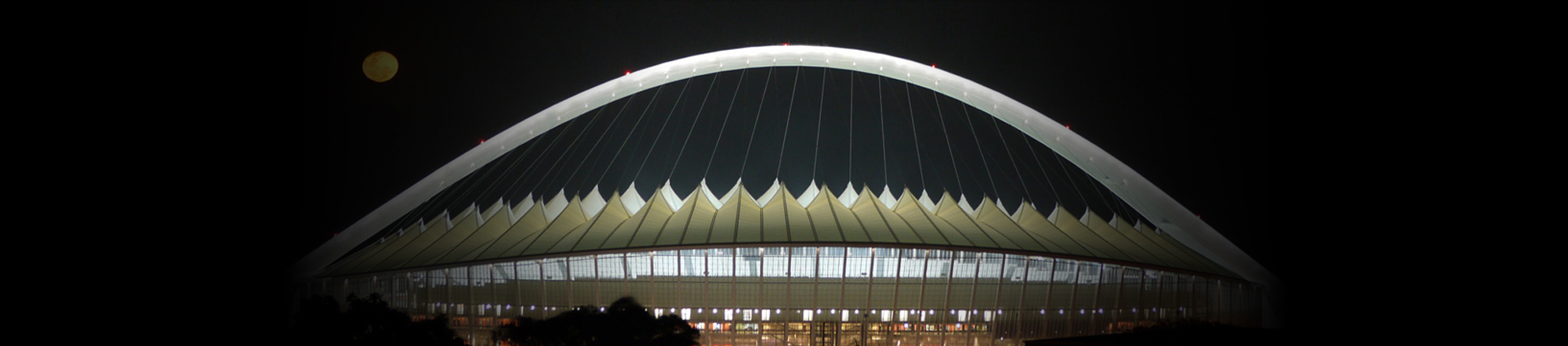 Architectural fabric atop the Moses Mabhida stadium in Durban, South Africa
